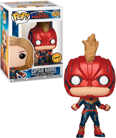 Image of Captain Marvel Funko Pop Figur - Marvel - Captain Marvel Chase