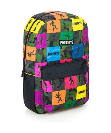 Farvede Fortnite skoletaske