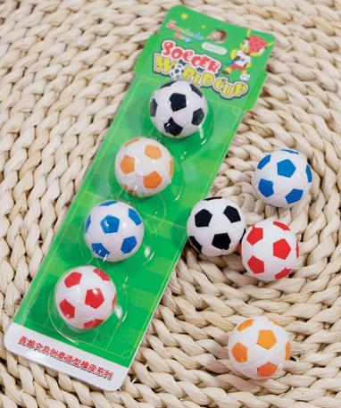 Fodbolde viskelæder i 4 forskellige farver