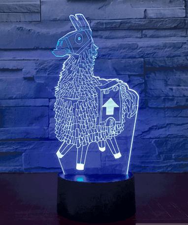 Fortnite Llama 3D Lampe