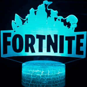 Fortnite Logo 3D Lampe