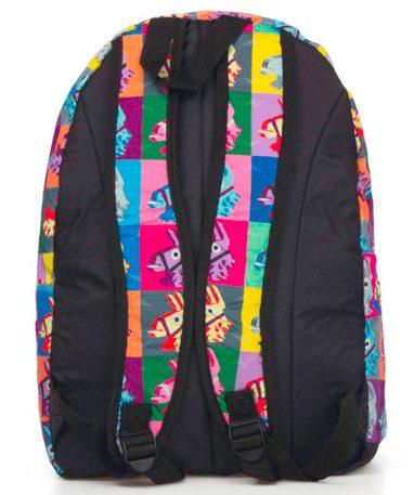 Fortnite lama skoletaske - rygsæk - bagfra