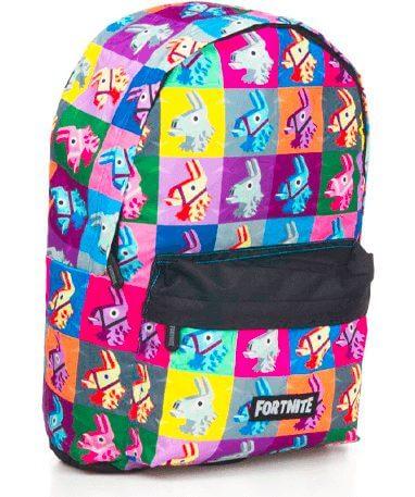 Fortnite lama skoletaske - rygsæk - fra siden