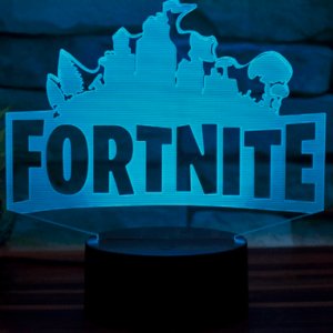 Fortnite logo lampe - 3D