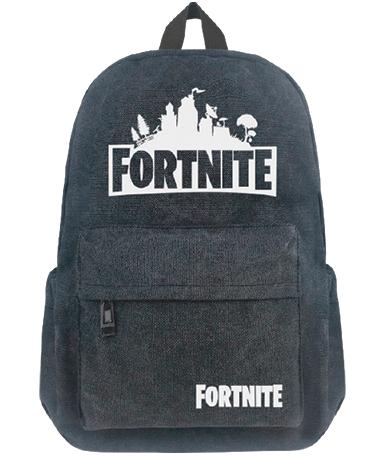 Fortnite skoletaske - rygsæk - sort - gråmelet