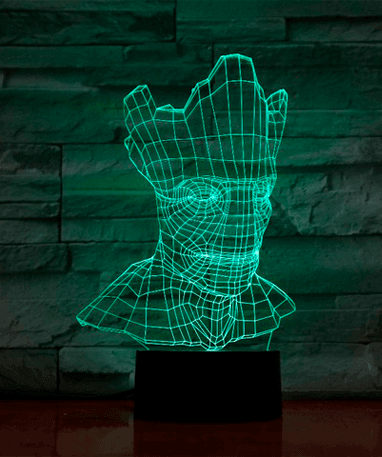 Groot 3D Lampe - Guardians Of The Galaxy