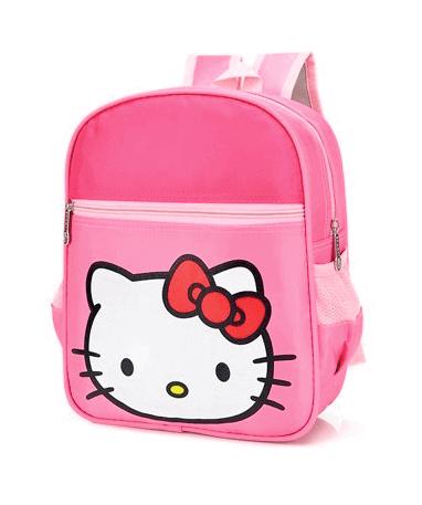 Hello Kitty Skoletaske til børn - Fra siden