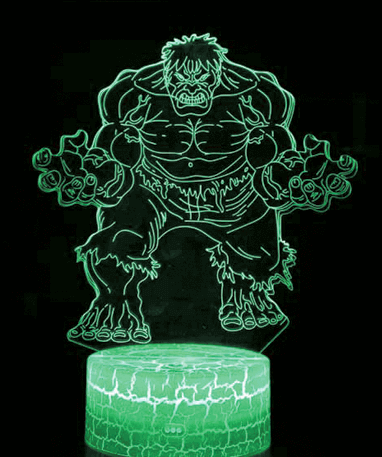 Hulk 3D Lampe - Marvel