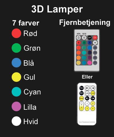 7 farver - 1 fjernbetjening