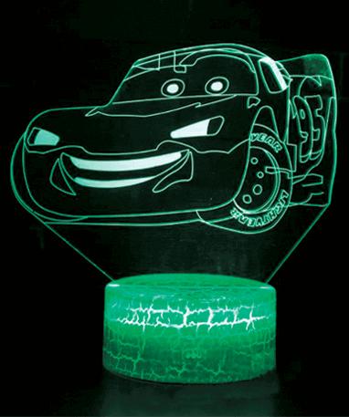 Lynet McQueen 3D Lampe - Biler