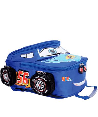 Lynet McQueen Skoletaske - Biler - Blå liggende