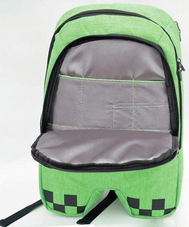 Minecraft skoletaske - Rygsæk - åbnet