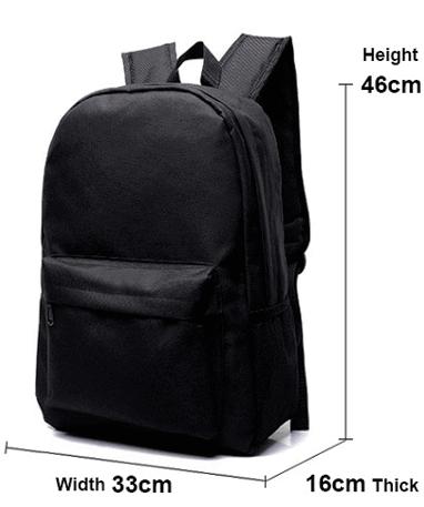 Pokemon skoletaske - Størrelse