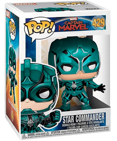 Star Commander Funko Pop Figur - Captain Marvel - I kasse