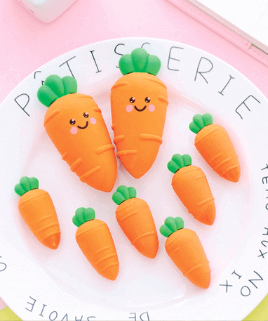 Stor Gulerods Viskelæder - sæt gulerødder