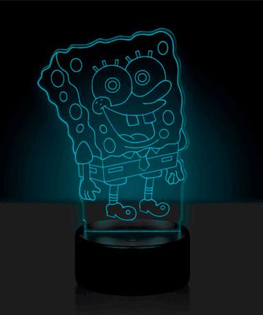 Svampebob Firkant 3D Lampe