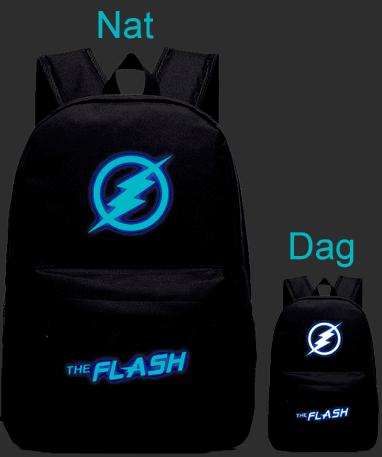 The Flash skoletaske lyser i mørke
