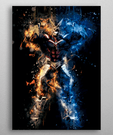 Image of   All Might metal plakat