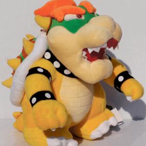 Bowser bamse - Super Mario 26cm