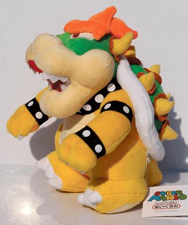 Bowser bamse - Super Mario 26cm - Fra siden
