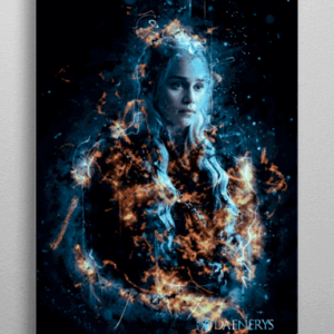 Daenerys Targaryen plakat - Metal - Game Of Thrones