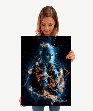 Daenerys Targaryen plakat - Metal - Game Of Thrones - Mellem