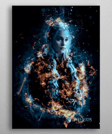 Daenerys Targaryen plakat - Metal - Game Of Thrones