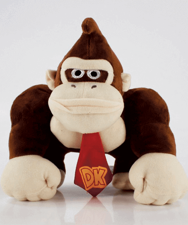 Donkey Kong bamse 25 cm - Super Mario
