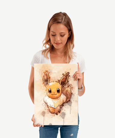 Eevee metal plakat - Pokémon - Lille