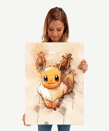 Eevee metal plakat - Pokémon - Mellem