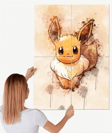 Eevee metal plakat - Pokémon - Stor