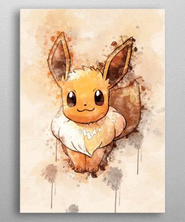 Eevee metal plakat - Pokémon