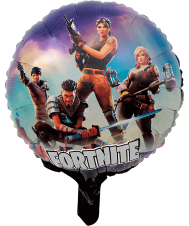Farvet Fortnite ballon