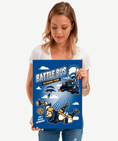 Fortnite Metal Plakat - Battle Royale 45x32 cm