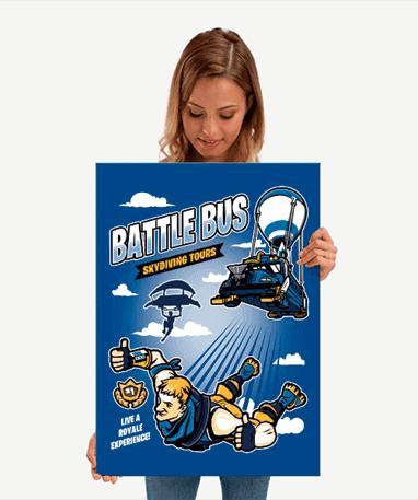 Fortnite Metal Plakat - Battle Royale 67x48 cm