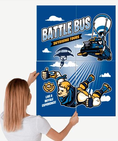 Fortnite Metal Plakat - Battle Royale 90x64 cm