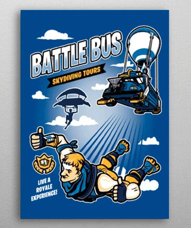 Fortnite Metal Plakat - Battle Royale