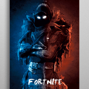 Fortnite Raven metal plakat
