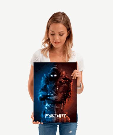 Fortnite Raven metal plakat - Lille