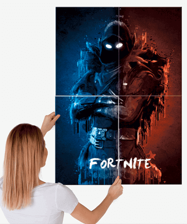Fortnite Raven metal plakat - Stor