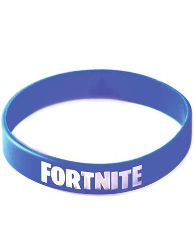 Image of   Fortnite armbånd - Sort, hvid og blå - Blå
