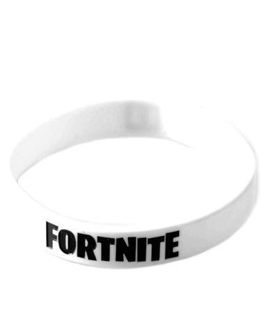Image of   Fortnite armbånd - Sort, hvid og blå - Hvid