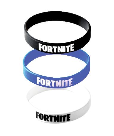 Image of   Fortnite armbånd - Sort, hvid og blå