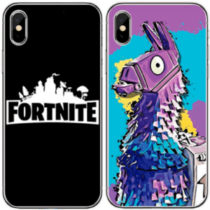 Fortnite iPhone cover - Lama og logo