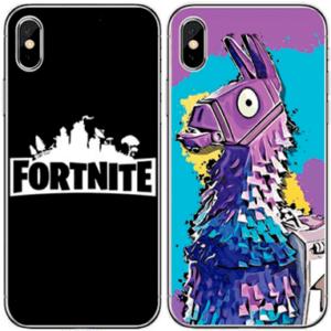 Fortnite iPhone cover - Lama og logo