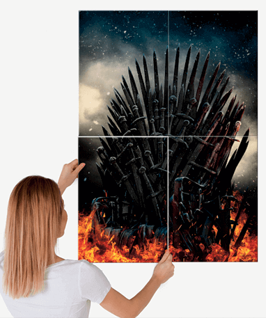 Game Of Thrones plakat - Metal - Stor