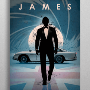 James Bond 007 plakat - Metal