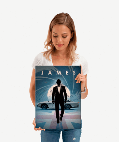 James Bond 007 plakat - Metal - Lille
