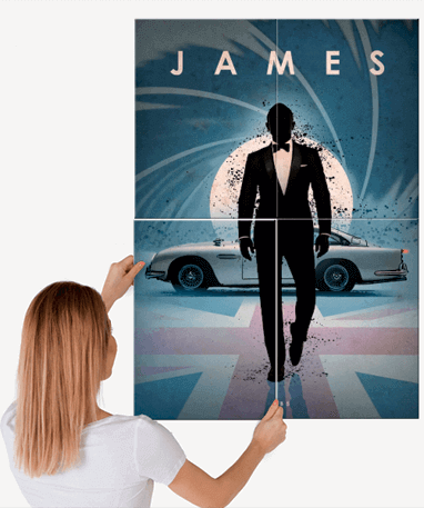 James Bond 007 plakat - Metal - Stor