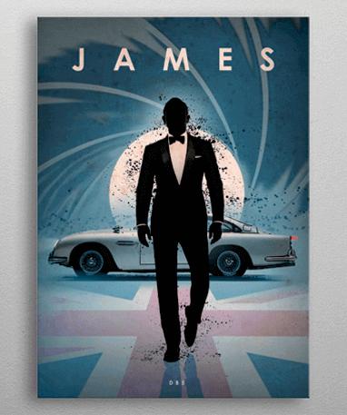 James Bond 007 plakat - Metal